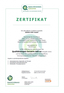 Zertifikatsurkunde Qualitätssiegel
