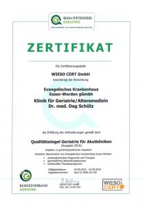 Qualitätssiegel Geriatrie für Akutkliniken