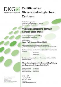 Zertifikat Viszeralonkologisches Zentrum