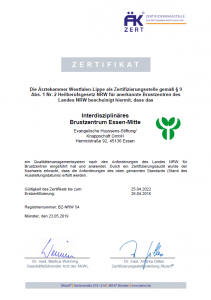 Zertifikat Brustzentrum des Landes NRW
